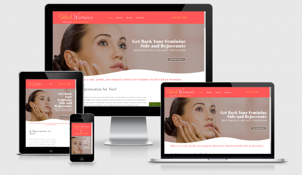 Salon Style Website Design